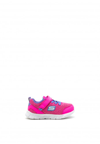 Skechers Girls Comfy Flex Trainers, Pink