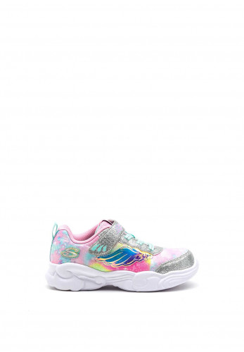 Skechers Toddler Magical Flying Beauty Trainer, Silver Multi