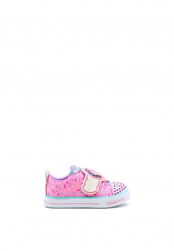 Skechers Girls Twinkle Toes Sparkle Treat Trainers, Pink