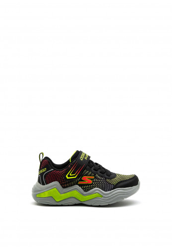 Skechers Boys S-Lights Erupters IV Trainers, Black Green