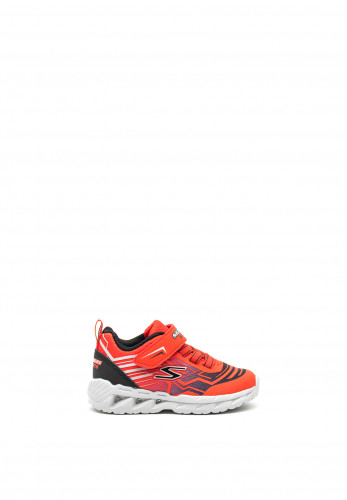 Skechers Boys S-Lights Trainers, Red
