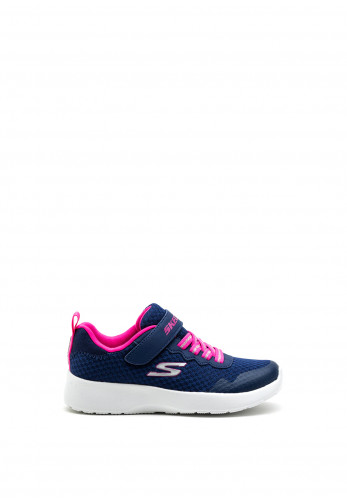 Skechers Girls Memory Foam Runners, Navy Pink