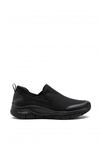Skechers Arch Fit Banlin Slip On Trainers, Black