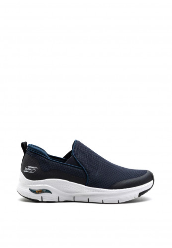 Skechers Arch Fit Banlin Slip On Trainers, Navy