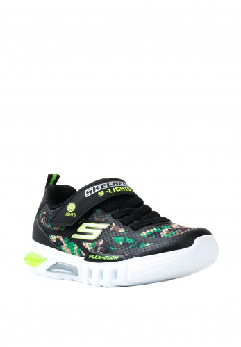 Skechers Boys S-Light Camouflage Velcro Trainers, Black