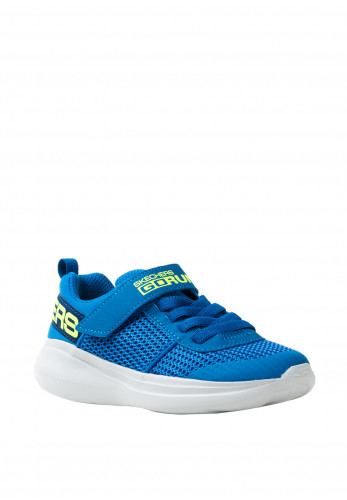 Skechers Boys Go Run Velcro Trainers, Blue