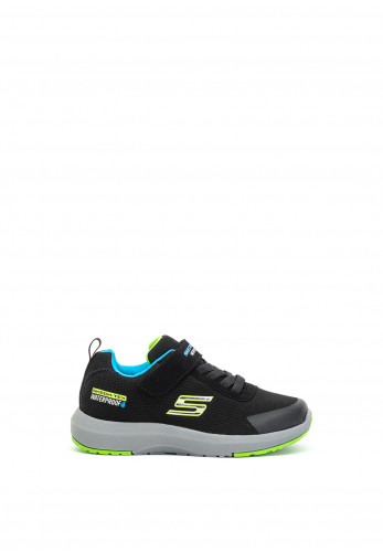 Skechers Boys Skech-Tech Waterproof Trainers, Black Multi