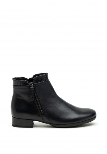 Gabor Comfort Extra Wide H Fit Zip Detail Ankle Boot, Navy