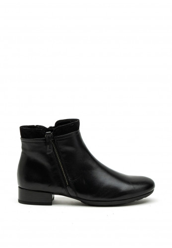 Gabor Comfort Extra Wide H Fit Zip Detail Ankle Boot, Black