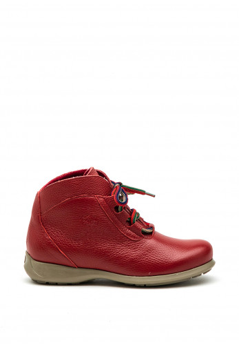Jose Saenz Soft Leather Lace Up Ankle Boot, Red