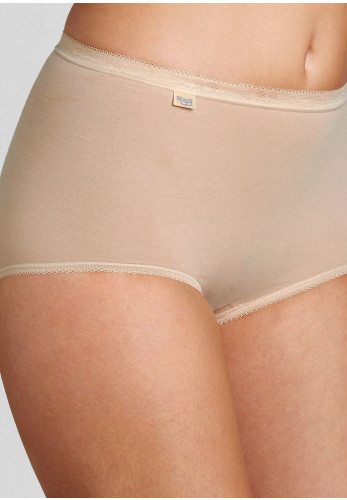 Sloggi Basic+ 3+1 Free Cotton Maxi Brief, Nude