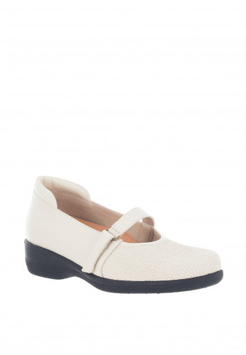 Softmode Caterina Leather Velcro Comfort Shoes, Beige
