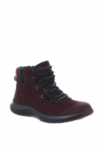 Gabor Rolling Soft Nubuck Lace Up Boots, Wine