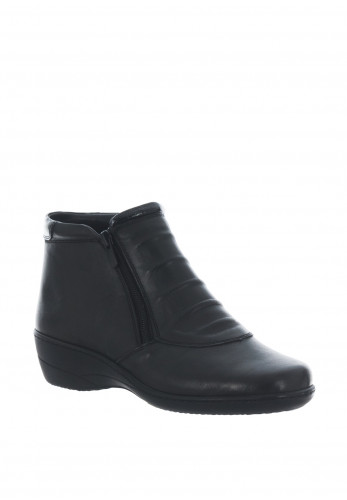 Softmode Chloe Leather Ankle Boots, Black