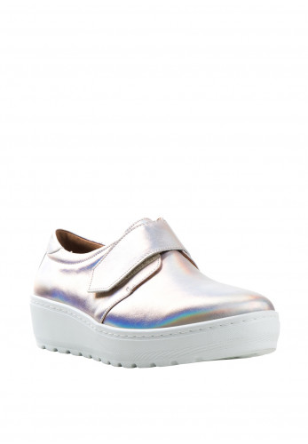 Softmode Charlene Hologram Wedged Shoes, Pink