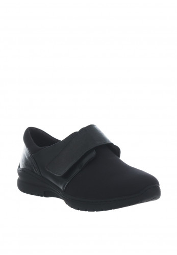 Softmode Daba Velcro Comfort Shoes, Black
