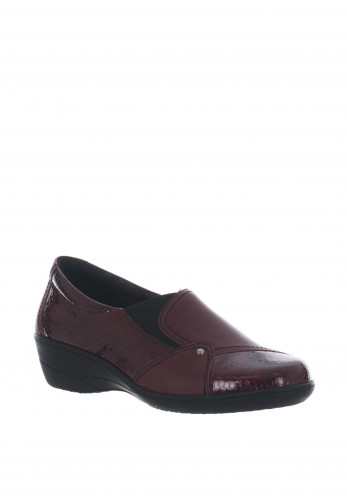 Softmode Emily Patent Slip on Shoes, Bordeaux