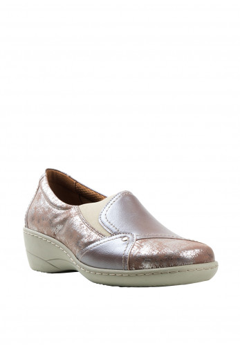 Softmode Emily Patent Slip On Shoes, Taupe