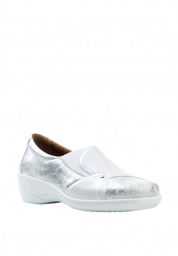 Softmode Emily Patent Slip On Shoes, White