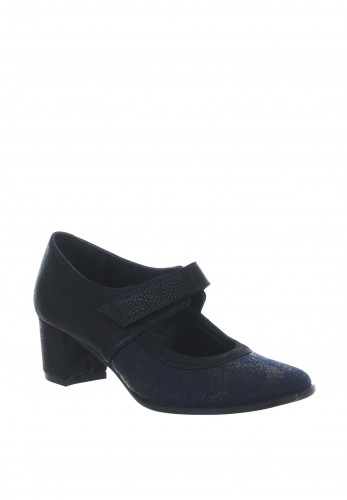 Softmode Sada Glitter Reptile Heeled Shoes, Navy