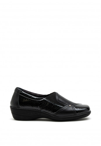 Softmode Emily Patent Slip on Shoes, Black