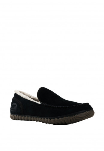 Sorel Mens Dude Moc Slipper, Black