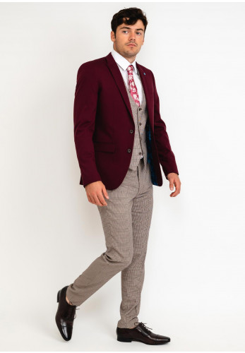 Spin Taylor Tailored Three Piece Suit, Wine