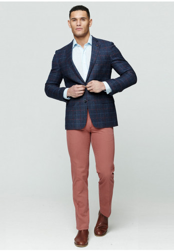 Magee 1866 Donegal Tweed Checked Blazer Jacket, Blue
