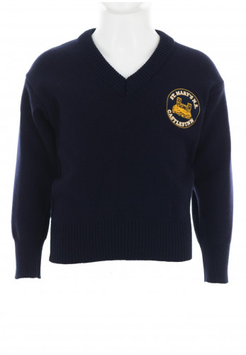 St Mary's N.S Castlefinn Knit School Jumper, Navy