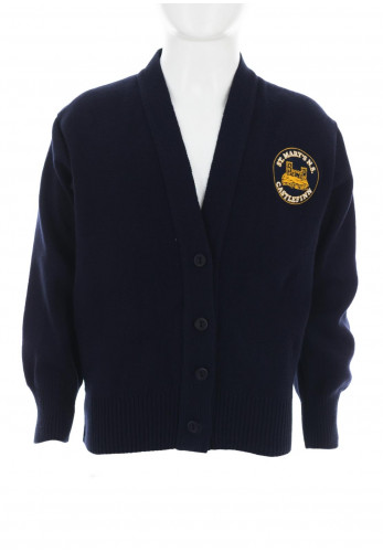 St Mary's N.S Castlefinn School Knit Cardigan, Navy