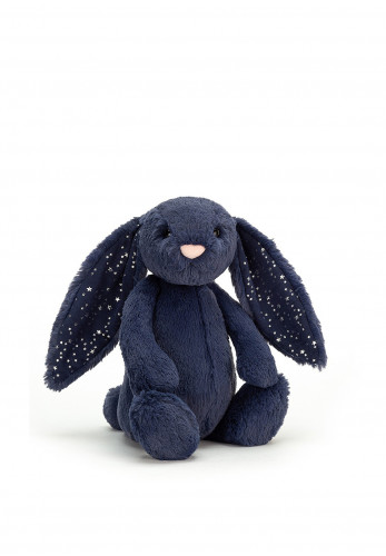 Jellycat I am Medium Bashful Stardust Bunny, Navy