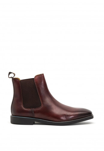 Steptronic Mayfair Chelsea Boot, Reddish Brown Waxed