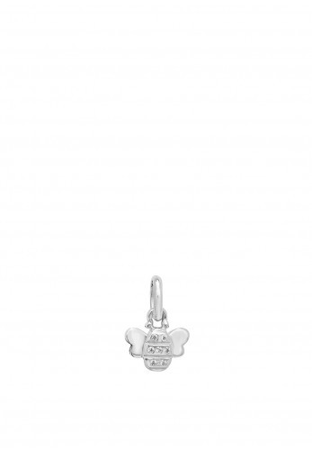 Sterling Silver Collection Bumble Bee Pendant Necklace, Silver
