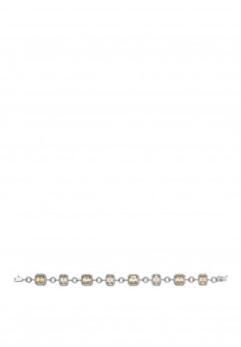 Sterling Silver Collection Yellow CZ Bracelet, Silver