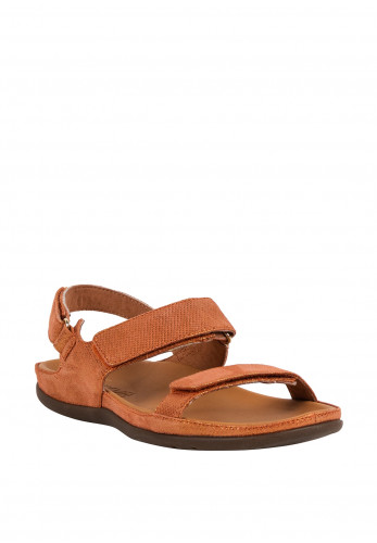 Strive Kona Leather Velcro Strap Sandals, Coral