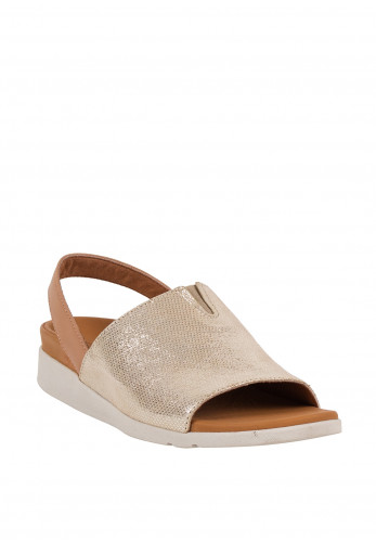 Strive Mara Metallic Shimmer Leather Sandals, Gold