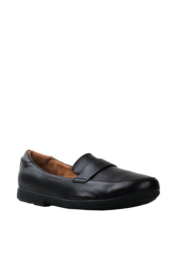 Strive Milan Leather Slip On Loafers, Black