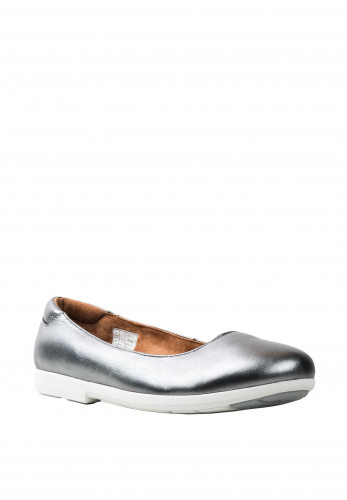 Strive Royan Leather Slip On Pumps, Grey