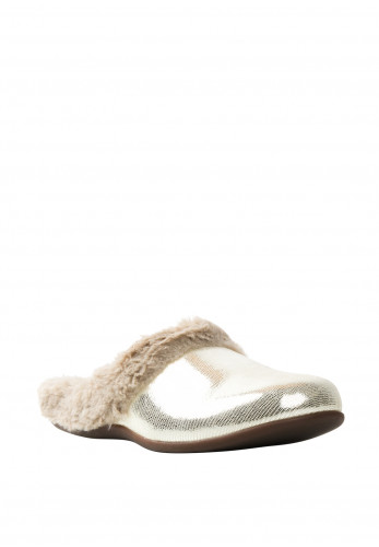 Strive Oslo Leather Slippers, Grey