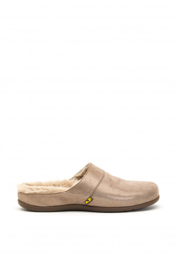Strive Vienna Nubuck Faux Fur Lined Slippers, Taupe