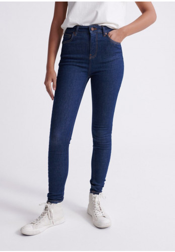 Superdry Womens High Rise Skinny Jeans, Blue