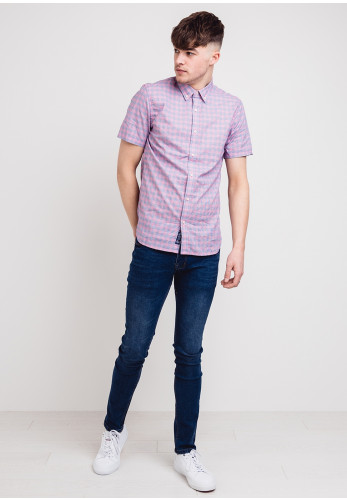 Superdry Classic Dobby Short Sleeved Shirt, Pink