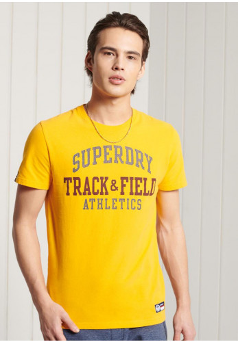 Superdry Track & Field Graphic T-Shirt, Yellow