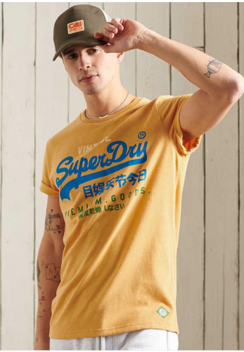 Superdry Vintage Logo Tri T-Shirt, Yellow