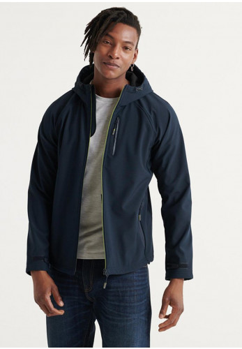 Superdry Softshell Hooded Zip Up Jacket, Navy