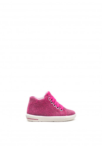 Superfit Girls Leopard Hi-Top Trainers, Pink
