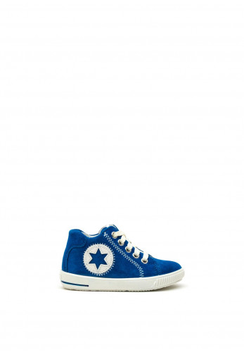 Superfit Baby Boys Suede Hi Top Trainers, Blue
