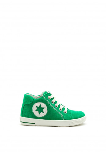 Superfit Baby Boys Suede Hi Top Trainers, Green