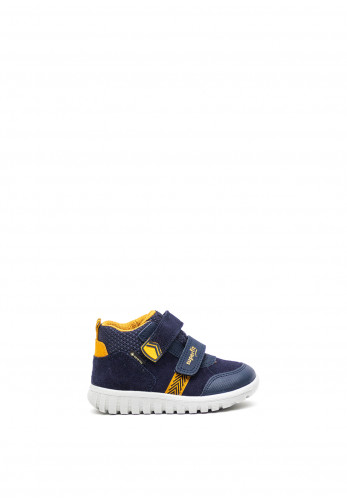 Superfit Boys Suede Double Velcro Hi-Top Trainers, Navy