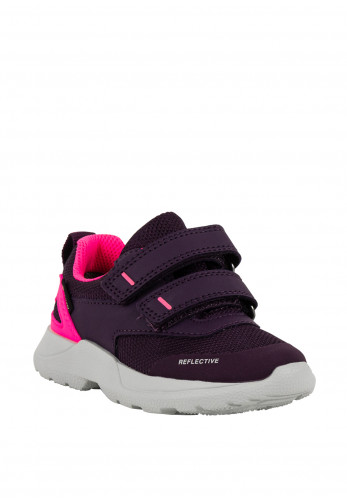 Superfit Baby Girls Leather Suede Velcro Trainers, Purple